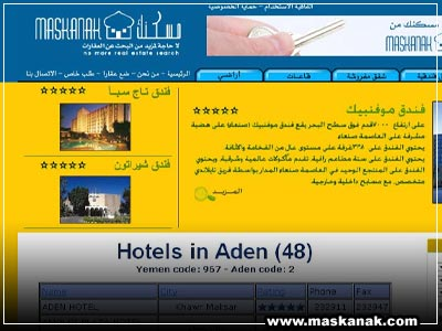 Title: Maskanak for real estate<br>Description: Yemeni real estate website.<br>Client: Maskanak for real estate